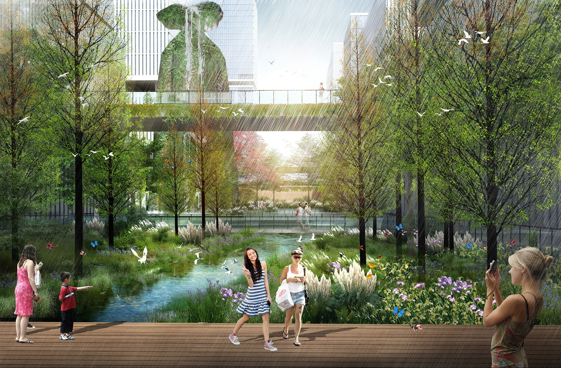 Shenzhen bay tech eco park crja ibi group for Eco landscape design