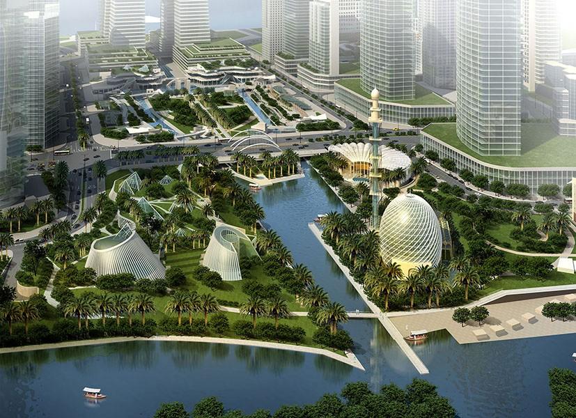 World Landscape Architecture Features Shams Abu Dhabi CRJA