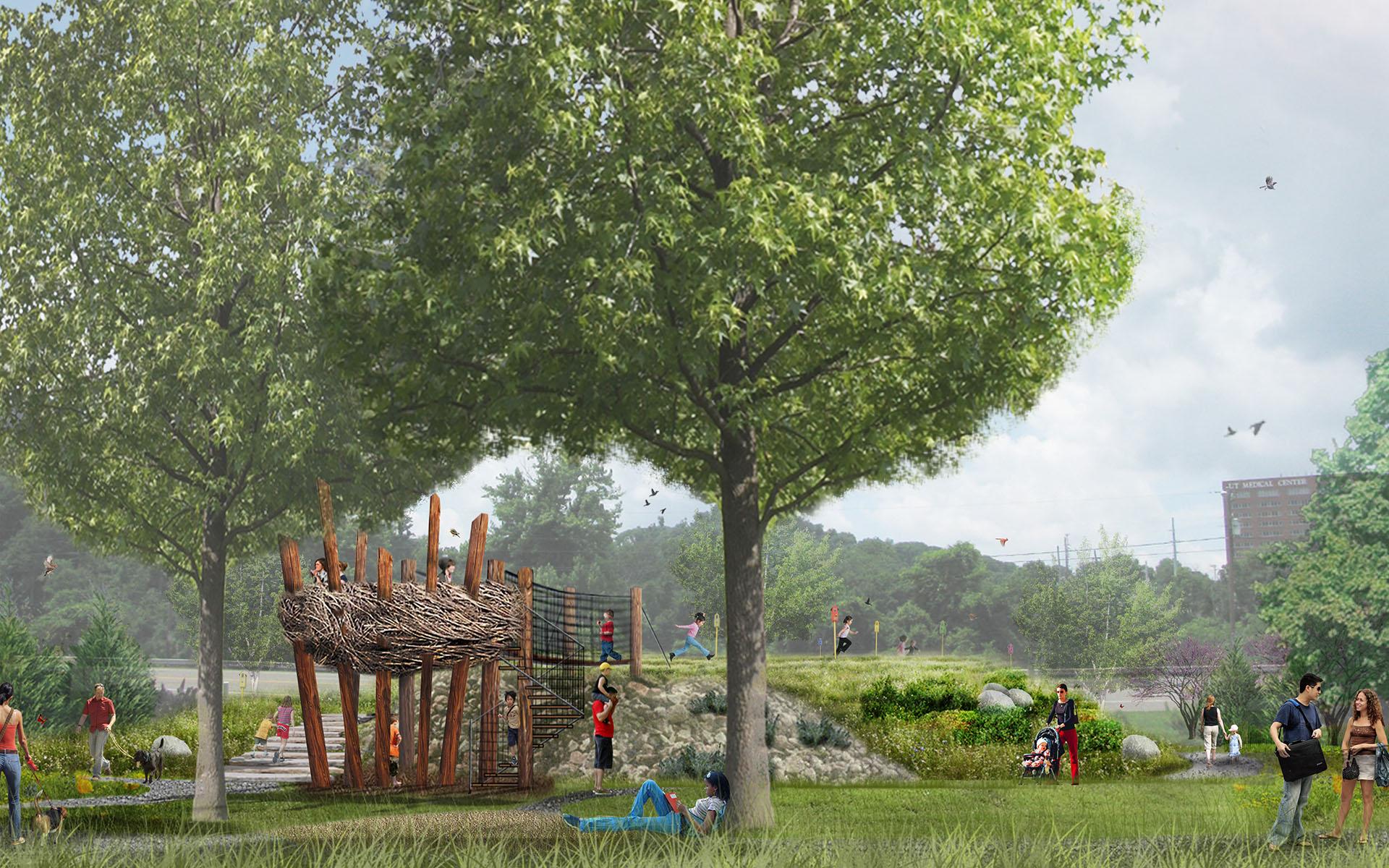 UT Garden Treehouse_Ground Level Perspective