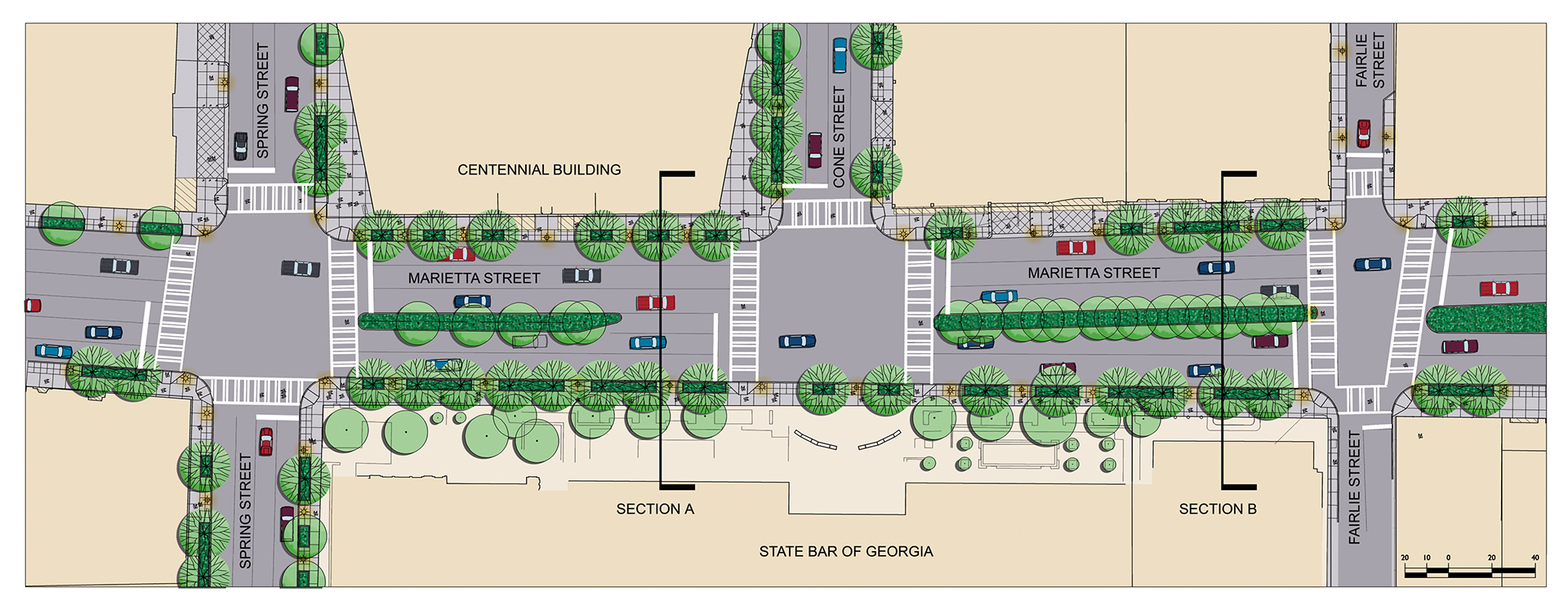 atlanta streetscapes enlargement plan