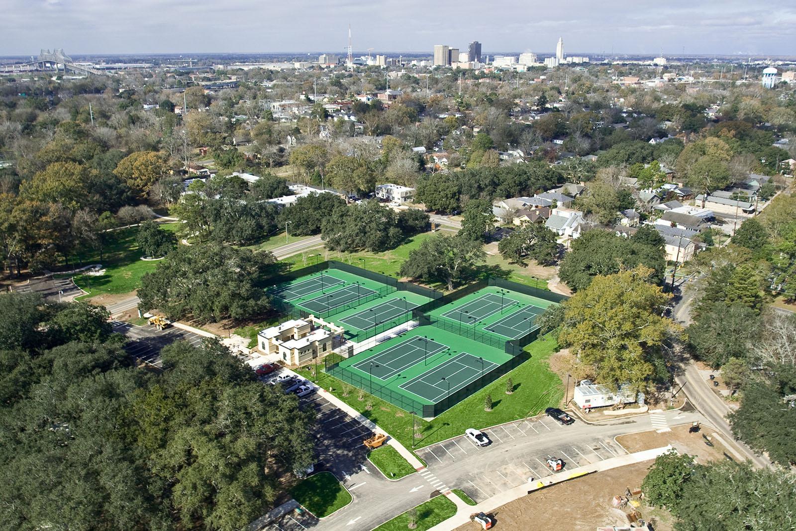 BR City Park aerial tennis