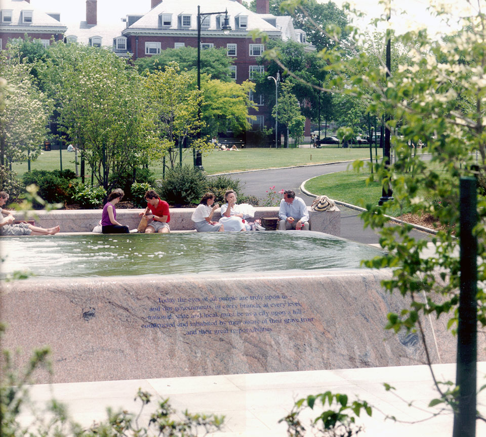 jfk fountain inscriptions