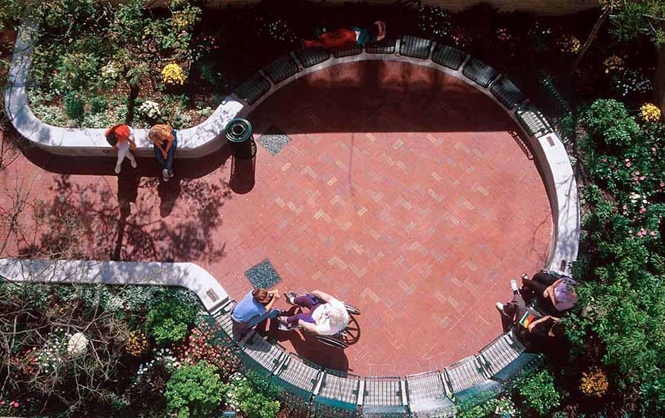 pine street inn garden aerial
