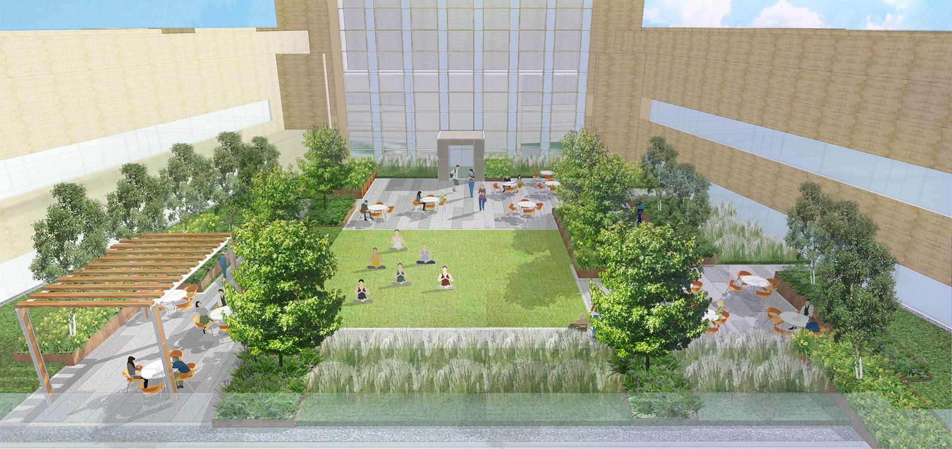 The Allen Hospital Roof Garden Crja