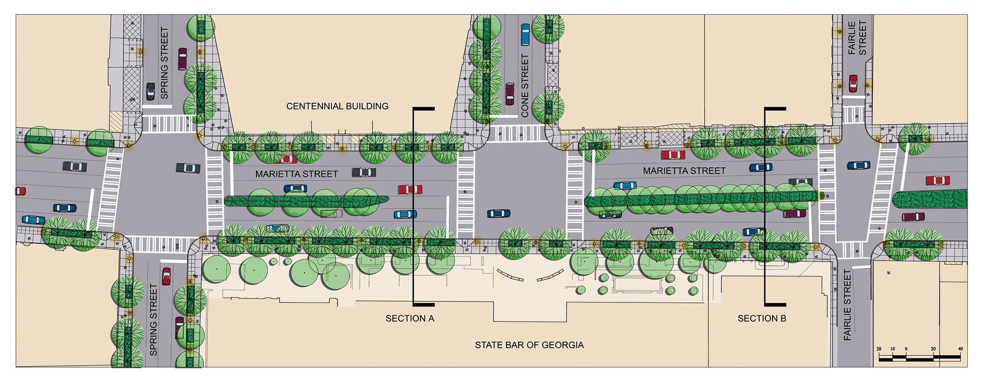 atlanta streetscapes enlargement plan