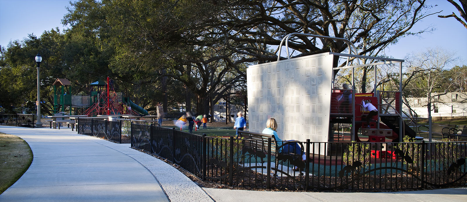 Renovated City Park located in Baton Rouge, Louisiana designed by landscape architects Carol R Johnson Associates.