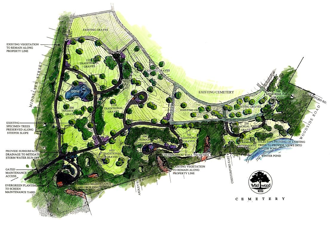 Wildwood Cemetery rendering