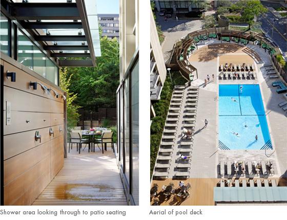 aerial of pool deck
