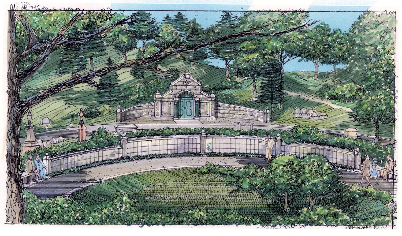 wildwood cemetery perspective
