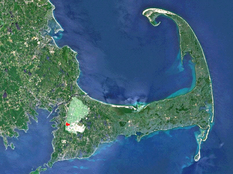 Aerial Cape Cod w Otis and Mass Mil Res-2 copy